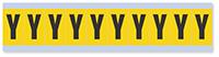 Alphabet 'Y' Vinyl Cloth Label, 1 Inch