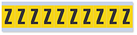 Alphabet 'Z' Vinyl Cloth Label, 1 Inch