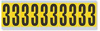 Numeric '3' Vinyl Cloth Label, 2 Inch