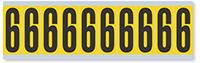 Numeric '6' Vinyl Cloth Label, 2 Inch
