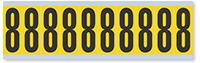 Numeric '8' Vinyl Cloth Label, 2 Inch