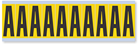 Alphabet 'A' Vinyl Cloth Label, 2 Inch