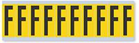 Alphabet 'F' Vinyl Cloth Label, 2 Inch