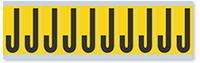 Alphabet 'J' Vinyl Cloth Label, 2 Inch