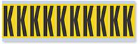 Alphabet 'K' Vinyl Cloth Label, 2 Inch