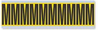 Alphabet 'M' Vinyl Cloth Label, 2 Inch