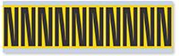 Alphabet 'N' Vinyl Cloth Label, 2 Inch