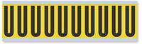 Alphabet 'U' Vinyl Cloth Label, 2 Inch