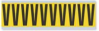 Alphabet 'V' Vinyl Cloth Label, 2 Inch