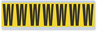 Alphabet 'W' Vinyl Cloth Label, 2 Inch