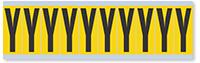 Alphabet 'Y' Vinyl Cloth Label, 2 Inch