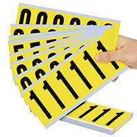 Vinyl Cloth 0-9 Numeric Kit Label, 3 Inch