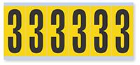 Numeric '3' Vinyl Cloth Label, 3 Inch