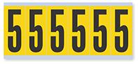 Numeric '5' Vinyl Cloth Label, 3 Inch