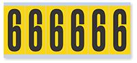 Numeric '6' Vinyl Cloth Label, 3 Inch