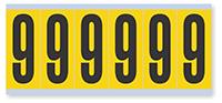 Numeric '9' Vinyl Cloth Label, 3 Inch