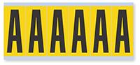Alphabet 'A' Vinyl Cloth Label, 3 Inch