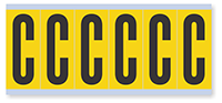 Alphabet 'C' Vinyl Cloth Label, 3 Inch