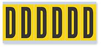 Alphabet 'D' Vinyl Cloth Label, 3 Inch