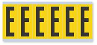 Alphabet 'E' Vinyl Cloth Label, 3 Inch