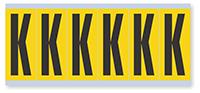 Alphabet 'K' Vinyl Cloth Label, 3 Inch
