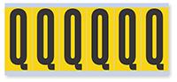 Alphabet 'Q' Vinyl Cloth Label, 3 Inch