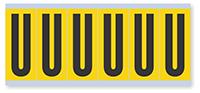 Alphabet 'U' Vinyl Cloth Label, 3 Inch