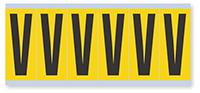 Alphabet 'V' Vinyl Cloth Label, 3 Inch