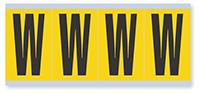 Alphabet 'W' Vinyl Cloth Label, 3 Inch
