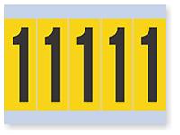 Number '1' Vinyl Cloth Label, 4 Inch
