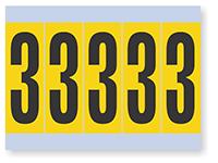 Number '3' Vinyl Cloth Label, 4 Inch