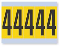 Number '4' Vinyl Cloth Label, 4 Inch