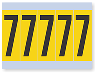 Number '7' Vinyl Cloth Label, 4 Inch