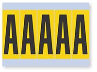 Alphabet 'A' Vinyl Cloth Label, 4 Inch