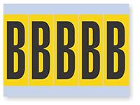 Alphabet 'B' Vinyl Cloth Label, 4 Inch
