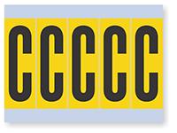 Alphabet 'C' Vinyl Cloth Label, 4 Inch