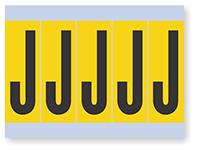 Alphabet 'J' Vinyl Cloth Label, 4 Inch