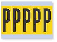 Vinyl Cloth Alphabet 'P' Label, 4 Inch