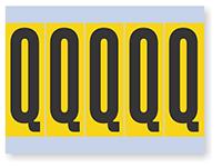 Vinyl Cloth Alphabet 'Q' Label, 4 Inch