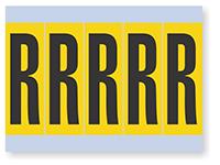 Vinyl Cloth Alphabet 'R' Label, 4 Inch