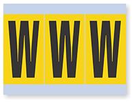 Vinyl Cloth Alphabet 'W' Label, 4 Inch