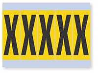 Vinyl Cloth Alphabet 'X' Label, 4 Inch