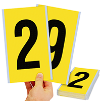 Vinyl Cloth 6 Inch Character Height, 0-9 Number Kit