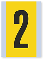 Number '2' Vinyl Cloth Label, 6 Inch