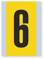 Number '6' Vinyl Cloth Label, 6 Inch