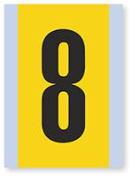 Number '8' Vinyl Cloth Label, 6 Inch