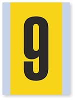 Number '9' Vinyl Cloth Label, 6 Inch