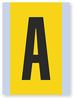 Vinyl Cloth Alphabet 'A' Label, 6 Inch