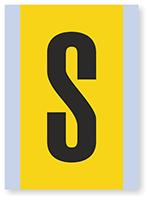 Vinyl Cloth Alphabet 'S' Label, 6 Inch