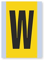 Vinyl Cloth Alphabet 'W' Label, 6 Inch
